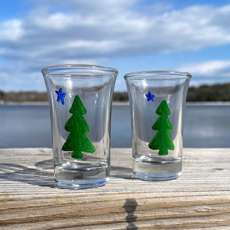 First Maine Flag Shot Glass
