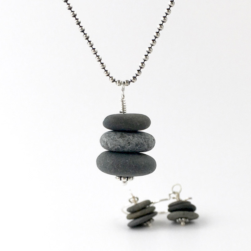 Cairn Pile Pendant & Earring Collection