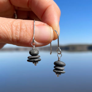 Mini Cairn Pile Earrings