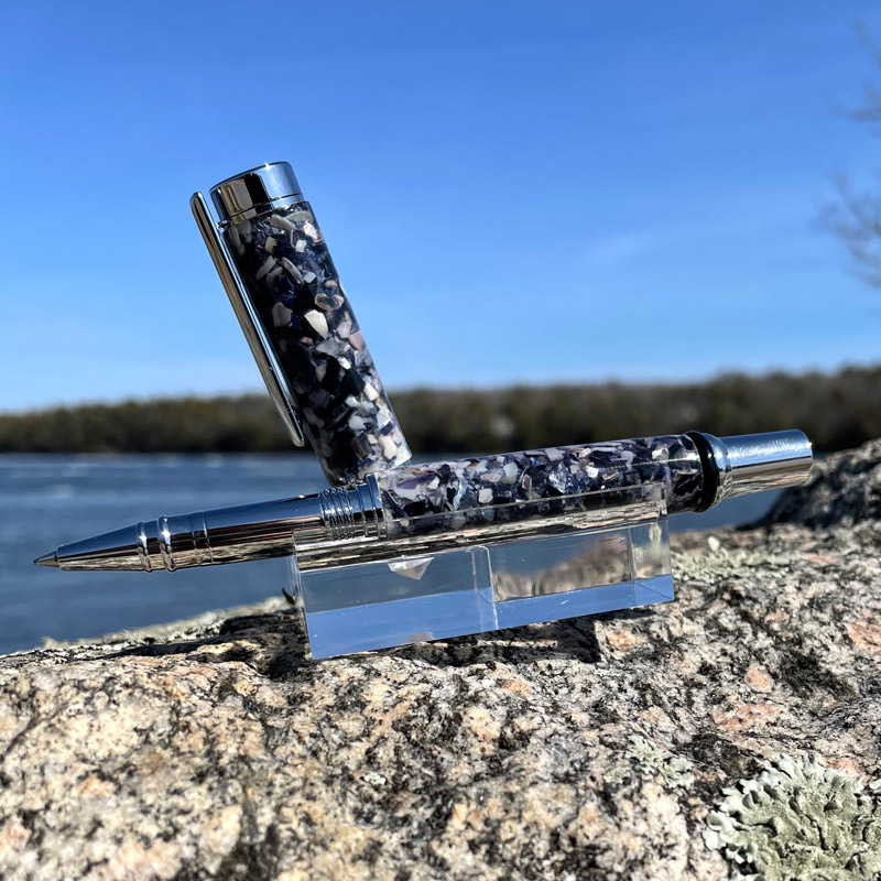 Crushed Mussel Shell Rollerball Pen