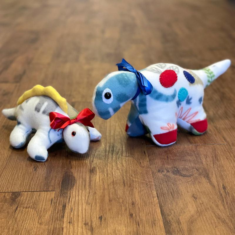 Fleece Stuffed Animals - Dinosaurs