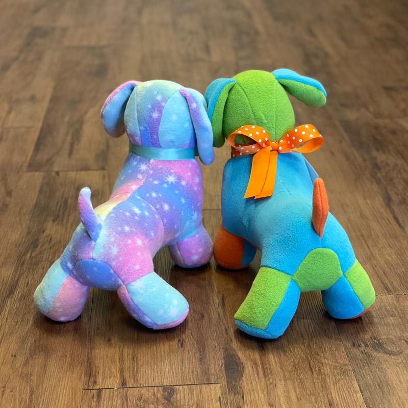 Fleece Stuffed Animals - Dogs