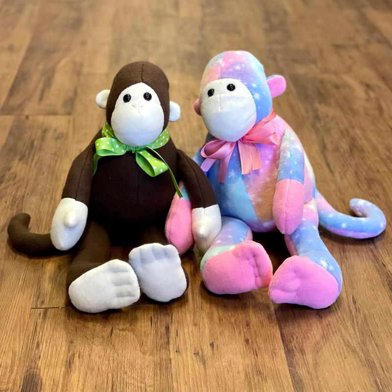 Fleece Stuffed Animals - Monkeys