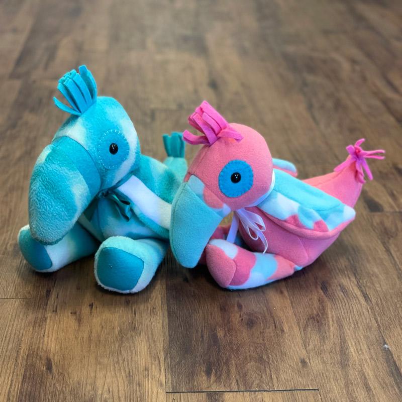 Fleece Stuffed Animals - Tucans