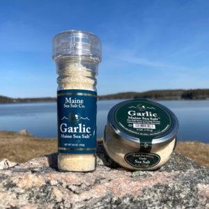 Garlic Maine Sea Salt Jar & Grinder