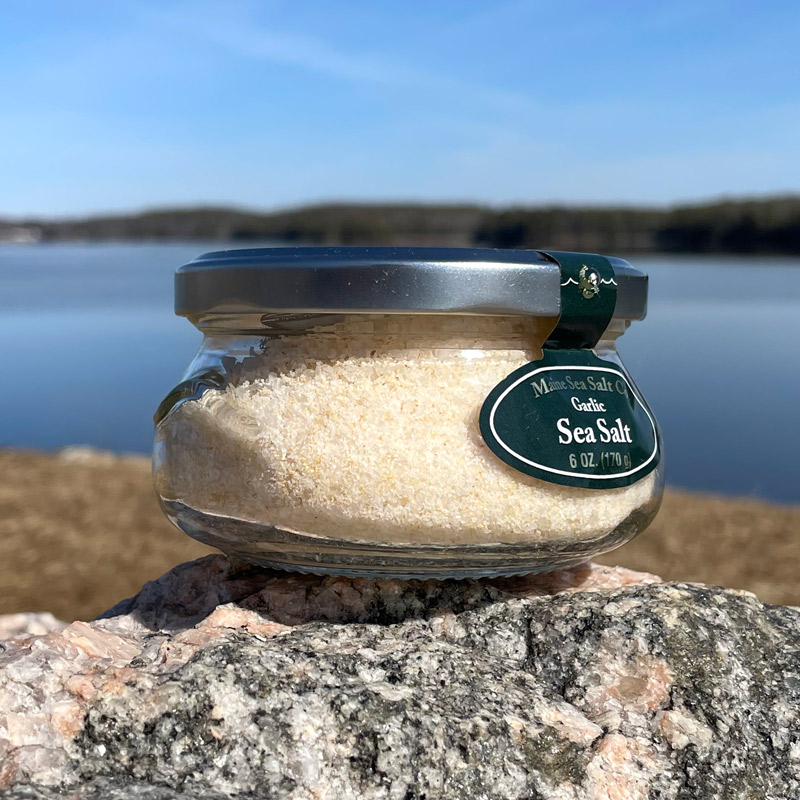 6 oz Garlic Maine Sea Salt Jar
