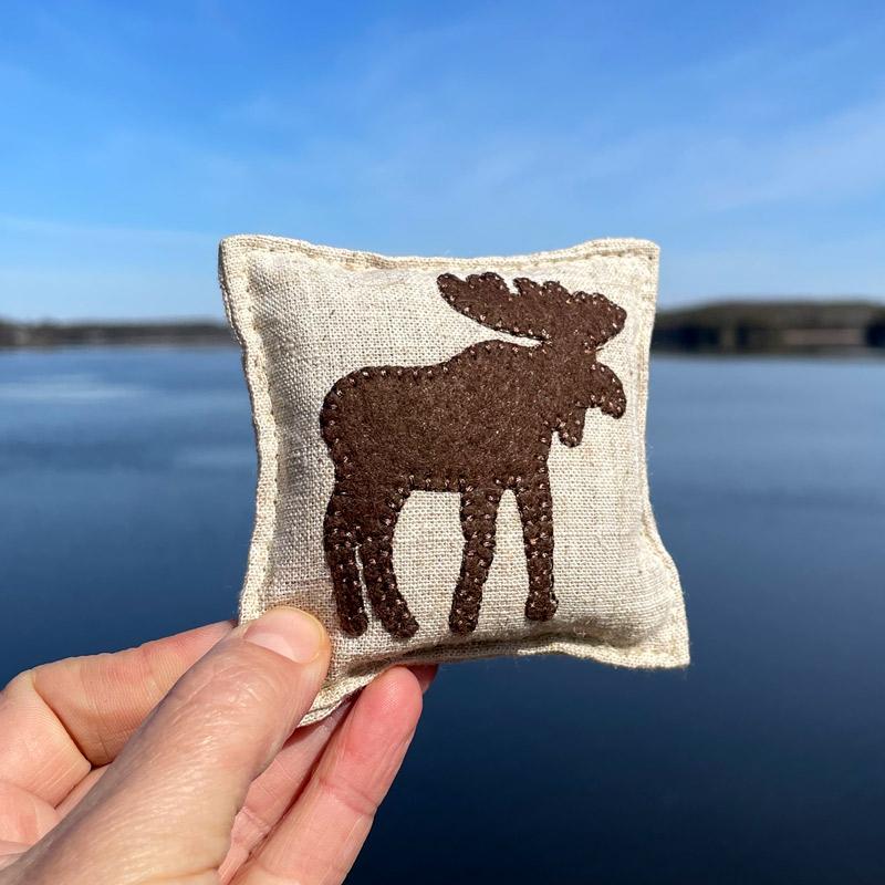 Moose Felted Balsam Pillow