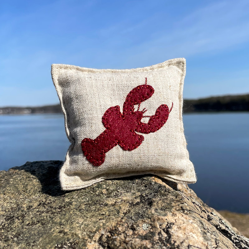 Lobster Felted Balsam Pillow