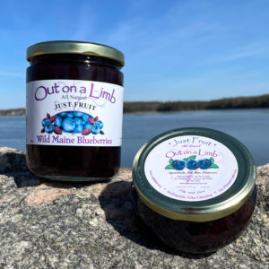 Jar of Just Maine Blueberries