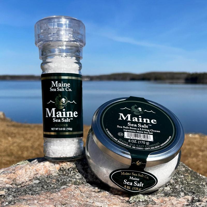 Natural Sea Salt Jar & Grinder