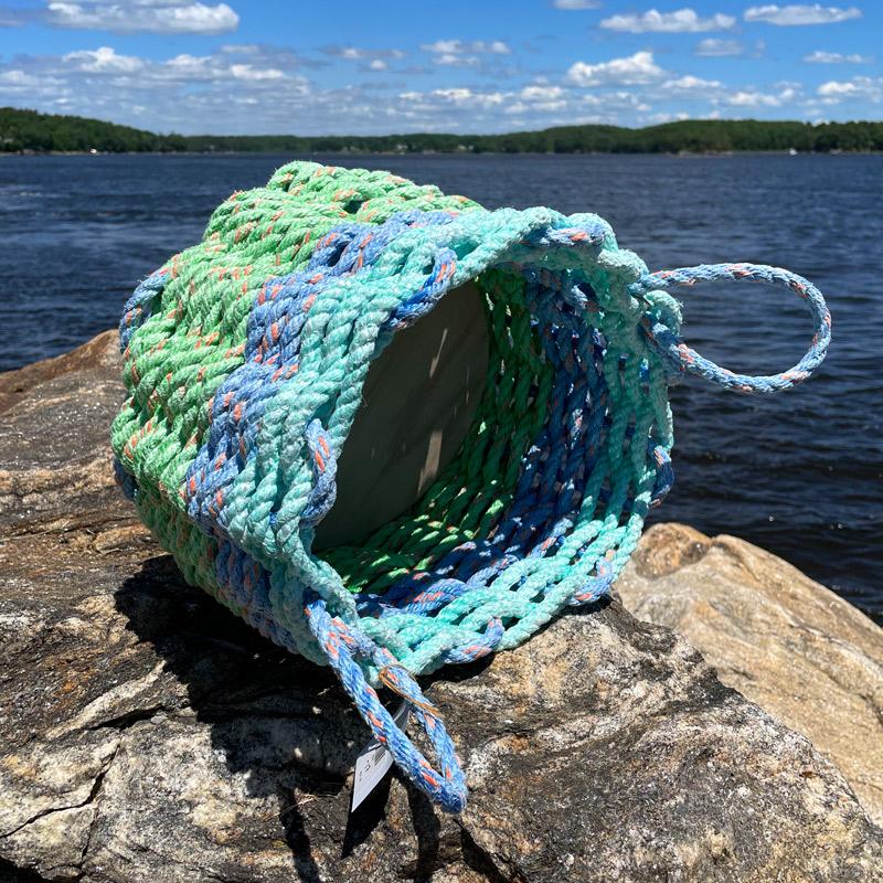 Sea Foam Lobster Rope Basket