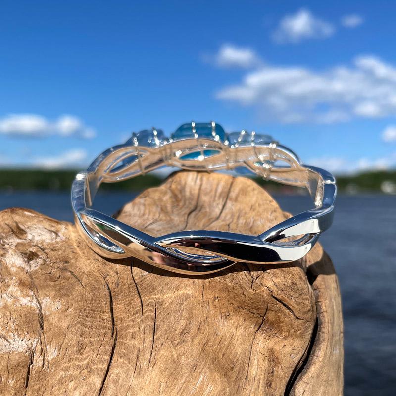 Light Blue & Aqua Sea Glass Bracelet