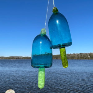 Teal Blown Glass Lobster Buoy