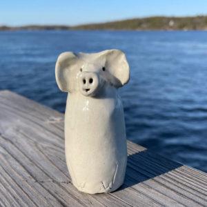 Piggy Bud Vase by Westport Island Pottery