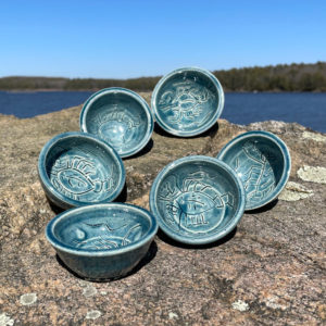 Lobster Butter Bowl by Westport Island Pottery