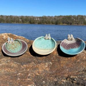 Bird Tea Bag Holders by Westport Island Pottery