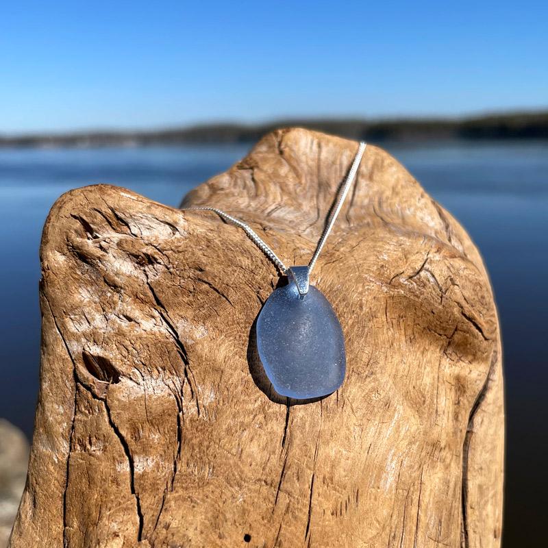 Sue's Signature Sea Glass Necklace - Light Blue