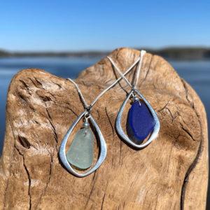 Sea Glass Tear Drop Necklace