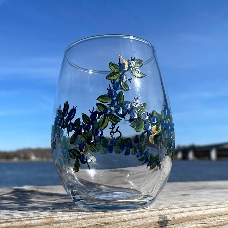 Lisa-Marie's Original Hand Painted Blueberry Glassware