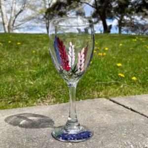 Lupine Wine Glass