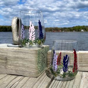 Lupine Stemless Wine Glass