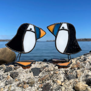 Mini Stained Glass Puffin