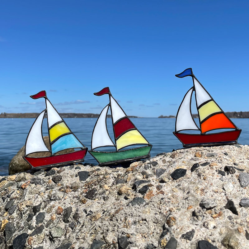 Stained Glass Sailboats