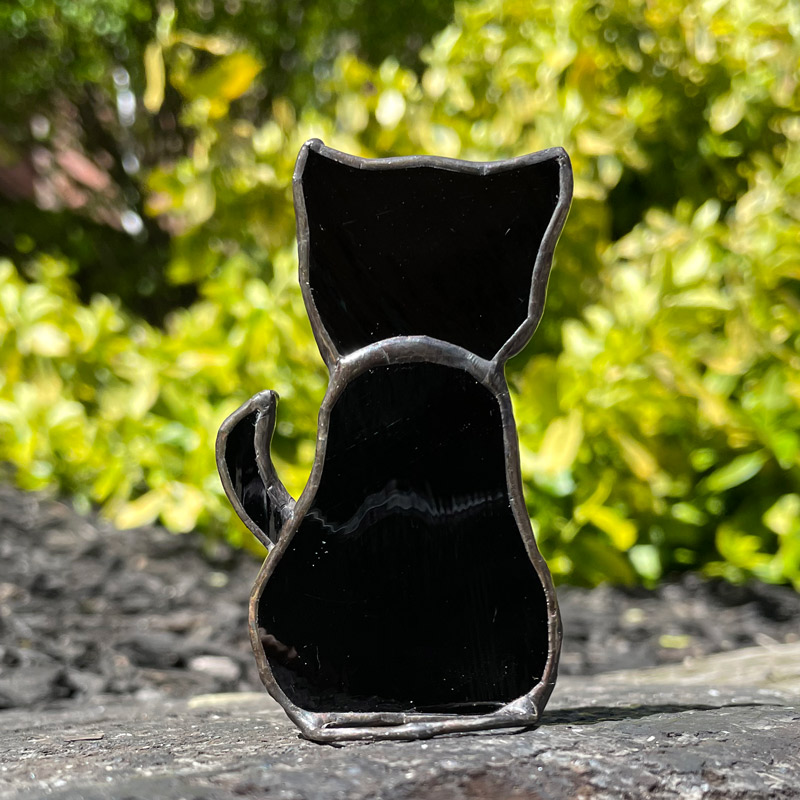 Black Stained Glass Cat