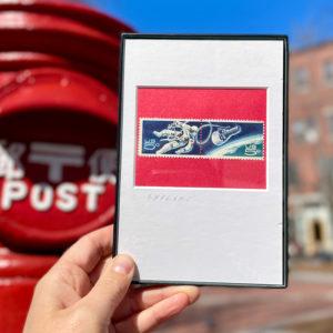 Astronaut Explorer, 5 cent USA Double Postage Stamp