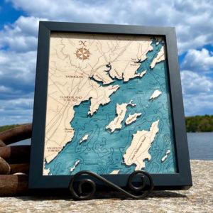 Yarmouth & Casco Bay 2D Map