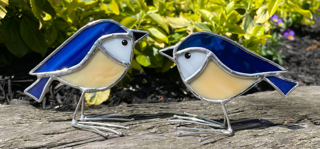 Stained Glass Bluebirds