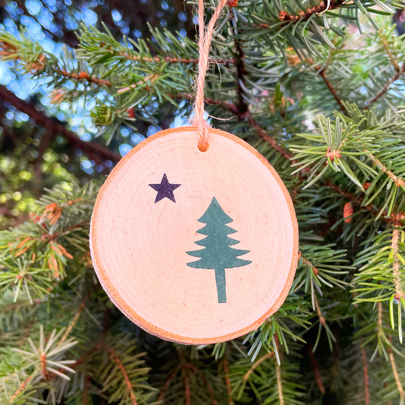 First Maine Flag Ornament