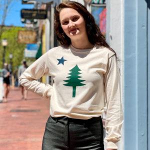 First Maine Flag Long Sleeve Shirt