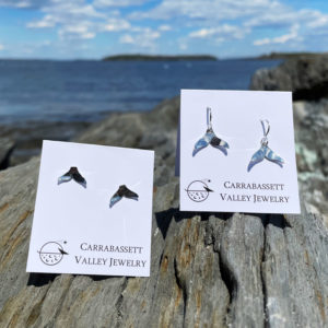 Whale Tail Earrings by Carrabassett Valley Jewelry