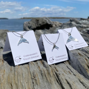 Whale Tail Pendants by Carrabassett Valley Jewelry