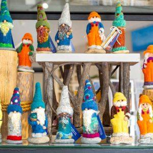Maine made gnomes in Bath, Maine