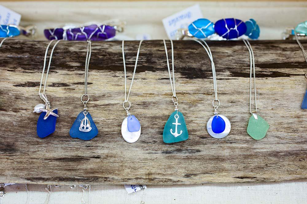 Custom sea glass jewelry at Lisa-Marie's Made in Maine