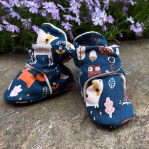 Woodland Animal Baby Booties