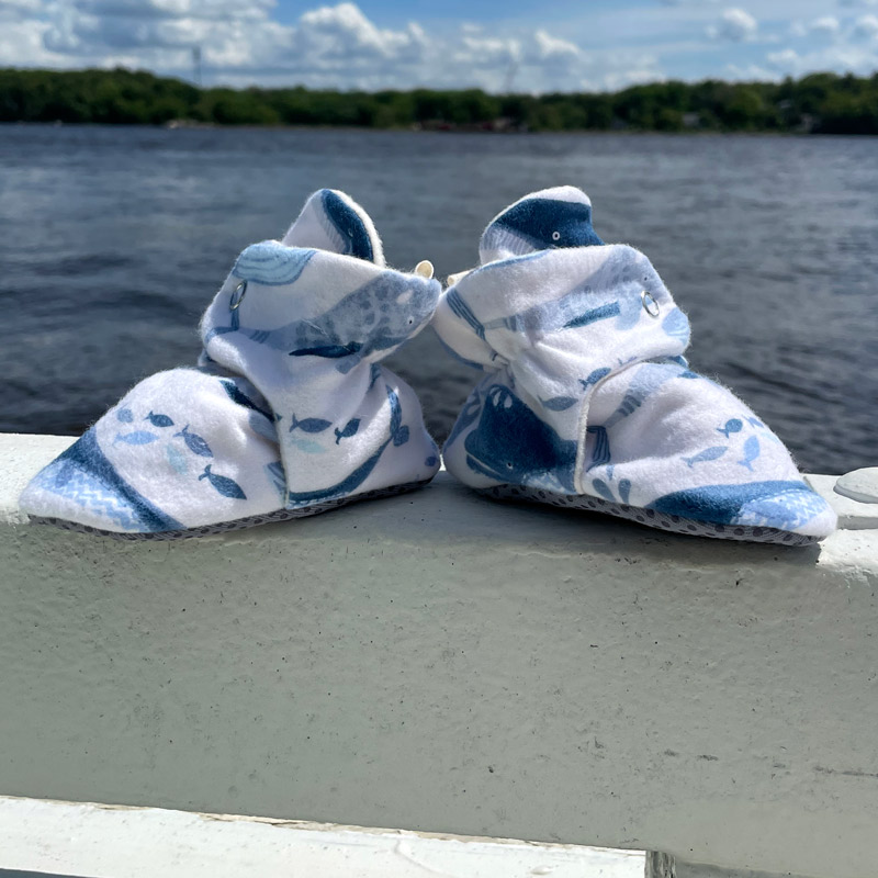 Whale Baby Booties