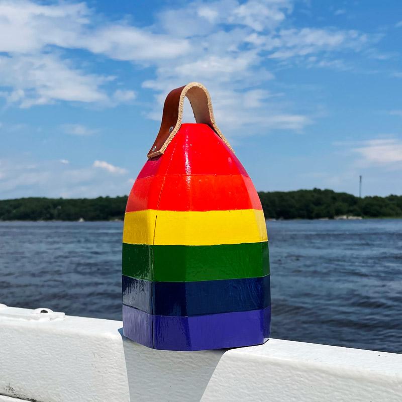Small Glossy Rainbow Buoy Centerpiece