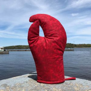 Red Lobster Claw Oven Mitt