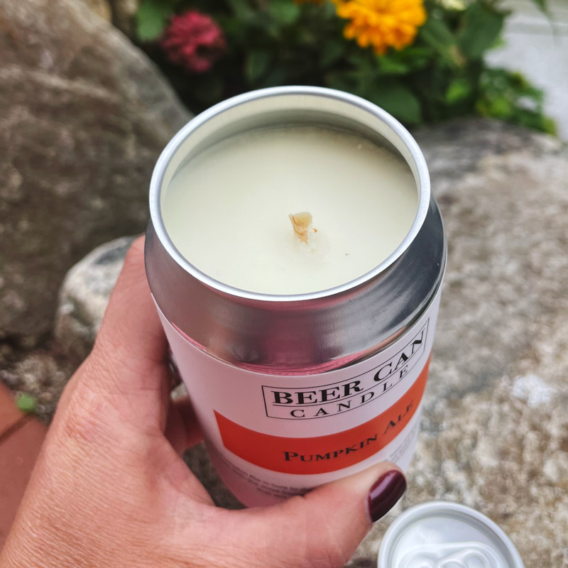 Pumpkin Ale Beer Can Candle