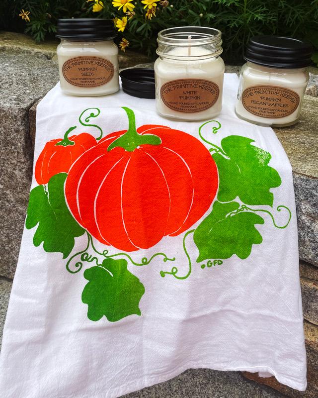 Pumpkin Flour Sack Towel