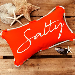 Salty Lumbar Pillow in Orange